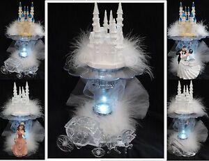 LIGHTED Bridal Fairytale Wedding Cake Topper Quince Castle LIGHT eBay