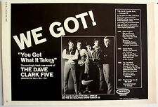 DAVE CLARK FIVE 1967 Poster Ad YOU GOT WHAT IT TAKES