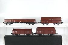Minitrix Güterwagen-Konvolut, Erz IIId, Hochbordwagen, Kohlewagen,ohne OVP,  (D)