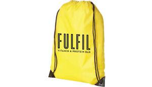 Fulfil-Nutrition-Drawstring-Bag-Yellow-Gym-Drawstring-Work-Out-Bag-Logo-Front