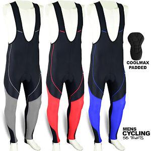 Mens-Cycling-Bib-Tights-Leggings-Coolmax-Padded-Road-Bike-MTB-Long-Pants-S-to-XL