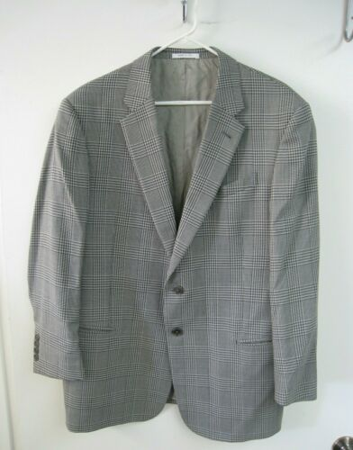 Giorgio Armani Men's Gray Plaid Suit Jacket Blazer