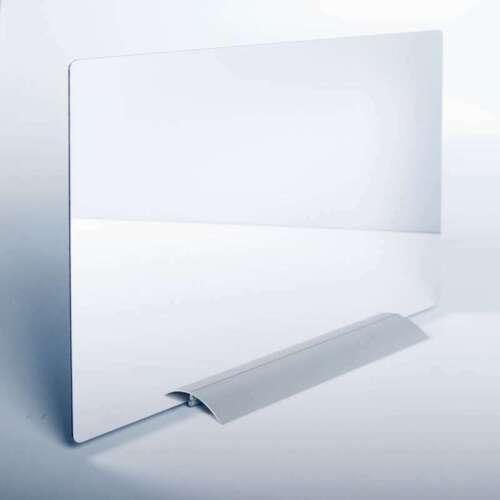 Klemmschiene für Plattenmaterial Therapiespiegel bis 5mm Aluminium Standfuß