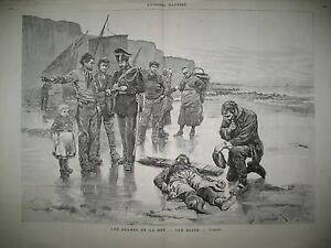 BRETAGNE-PECHEUR-NAUFRAGE-GENDARME-INDE-RUE-BOMBAY-EGOUTS-DE-PARIS-GRAVURES-1883