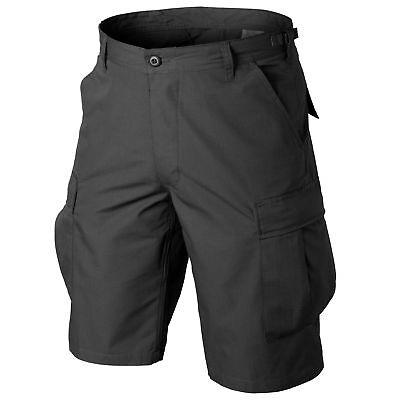 LiebenswüRdig Helikon Tex Bdu Shorts Ripstop Security Uniform Kurze Hose - Schwarz / Black Durchsichtig In Sicht