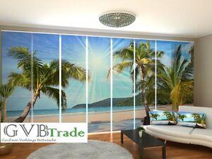 fotogardinen strand schiebevorhang schiebegardinen vorhang. Black Bedroom Furniture Sets. Home Design Ideas