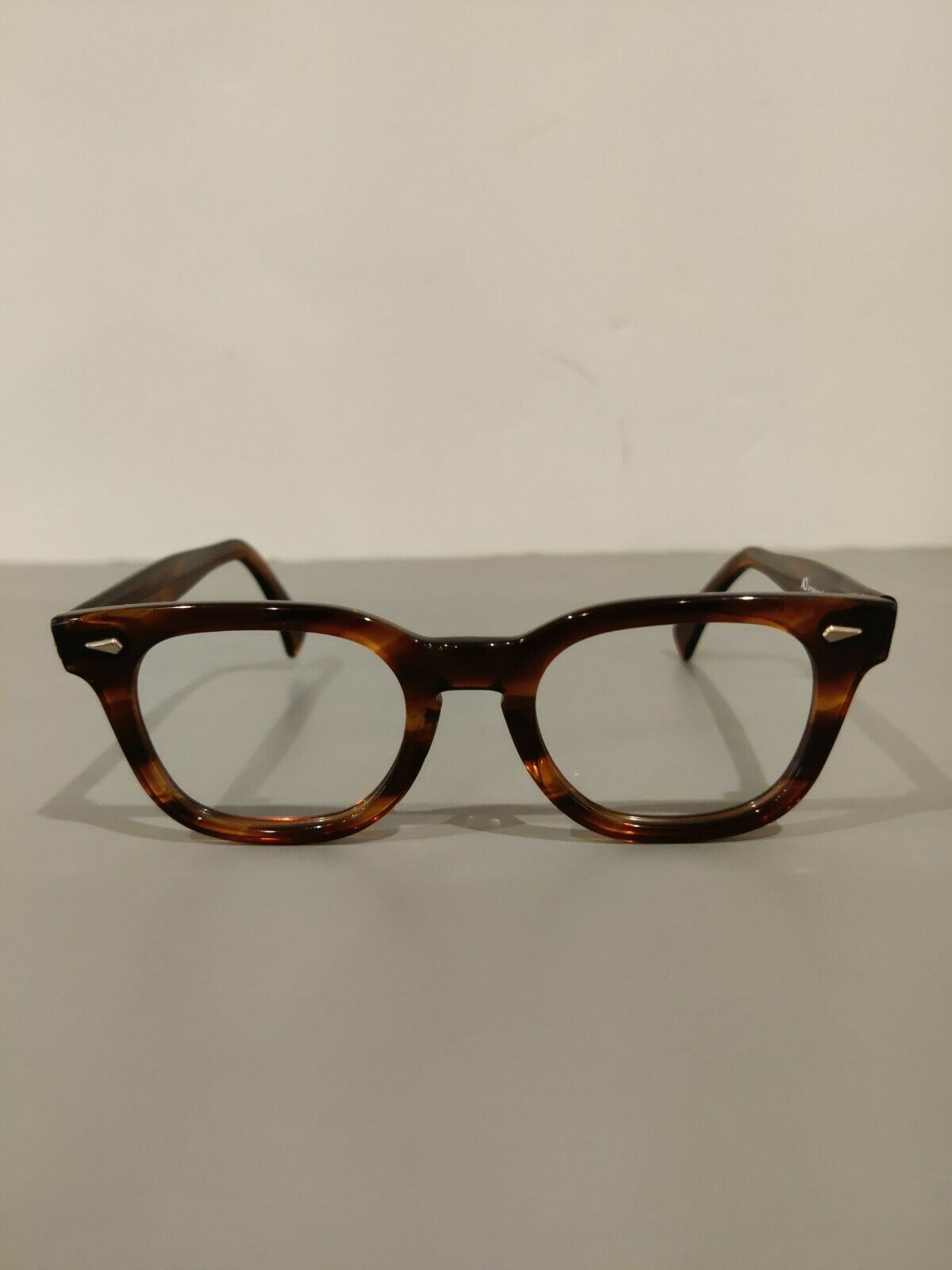 Vintage AMERICAN OPTICAL Johnny Depp Style Amber Dead stock