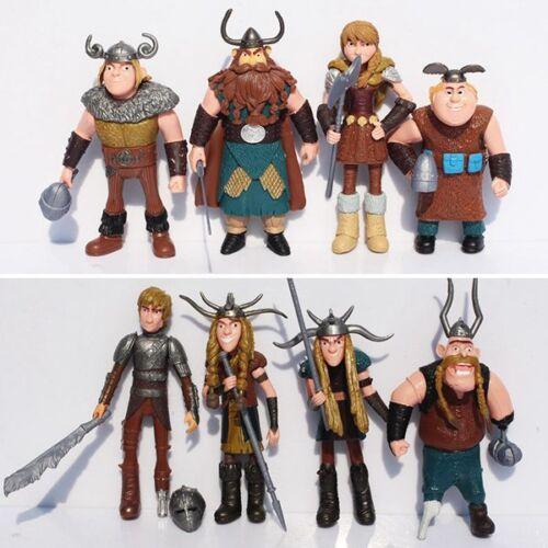 Drachenzähmen leicht gemacht Dragons Drachenreiter 8 Stück Figurenset Toy
