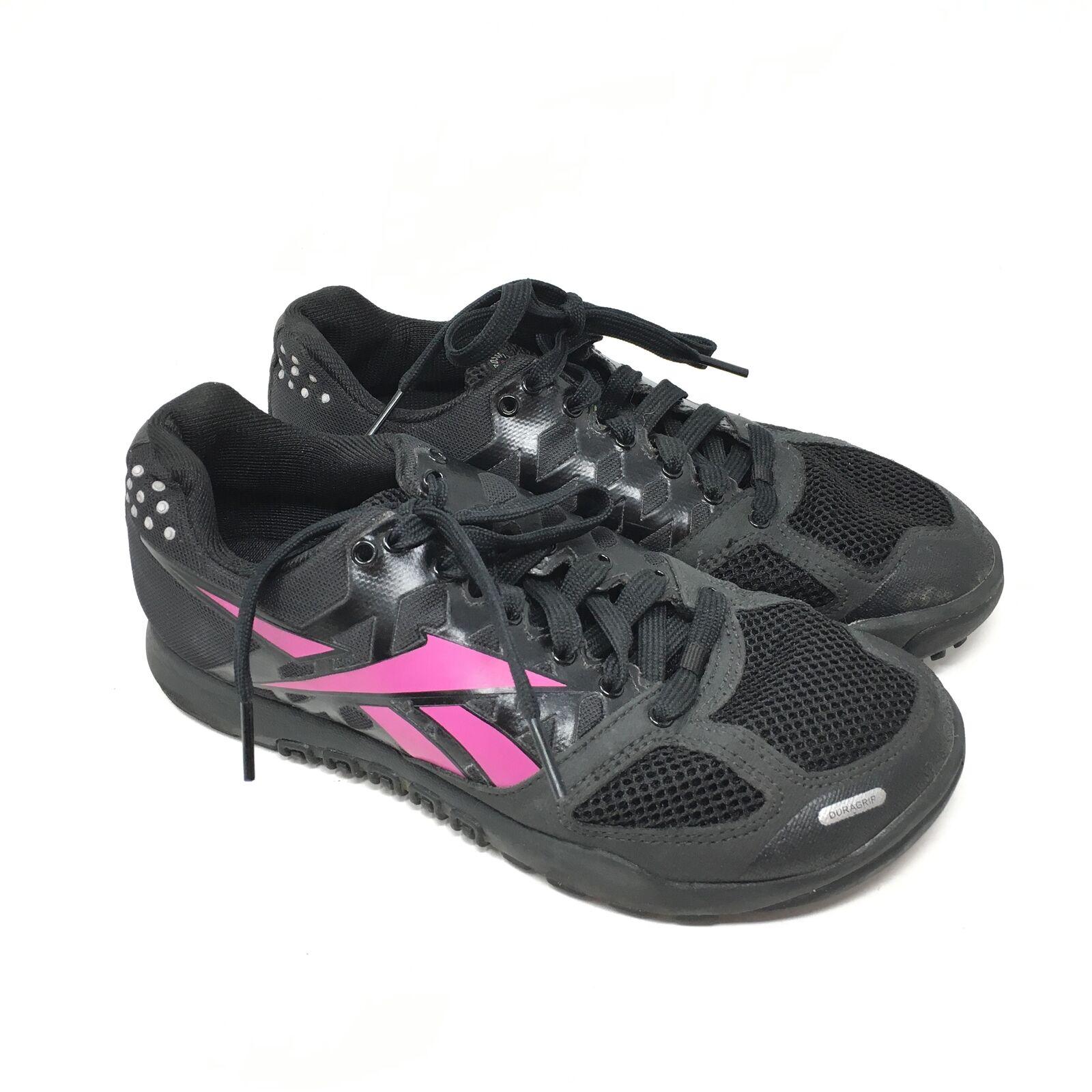 Women's Reebok CrossFit Nano 2.0 shoes Sneakers Size 6 Black Pink Training Z14