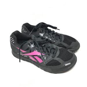 14f9e075efd Women s Reebok CrossFit Nano 2.0 Shoes Sneakers Size 6 Black Pink ...