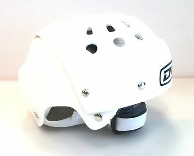 New DR ice skating helmet junior youth jr skate boarding toboggan white