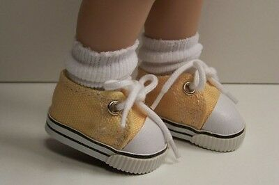 "Debs ORANGE w//White Sport Tennis Doll Shoes For 10/"" Ann Estelle Sophie Patsy"