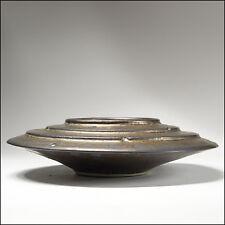 Michael Lambert Studio Art Pottery Metallic Spaceship Flower Frog Ikebana Bowl