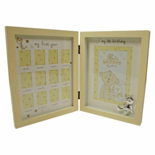 Buttons Corner My 1st Year Multi Photo Picture Frame Baby Keepsake Gift CG782