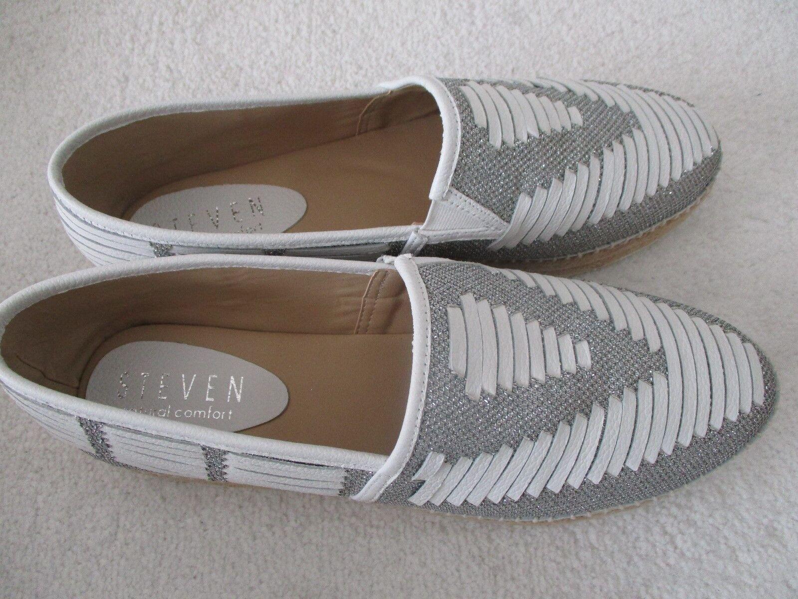 STEVEN M NATURAL COMFORT Weiß NC-CHARM FLAT Schuhe SIZE 8 M STEVEN - NEW W BOX c4e66b