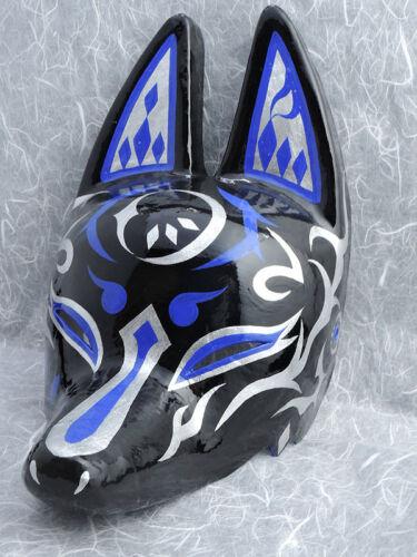 Japanese Fox Demi-masque Motif Lune fait à la main antique papier japonais F//S nouveau