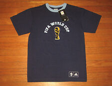 NWT adidas FIFA WORLD CUP, Men's Size SMALL, 2006 ARGENTINA Blue Colors Tee NWT
