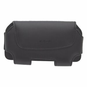 T-Mobile-Leather-Carrying-Case-w-Rotating-Clip-For-Most-Smartphones-Black