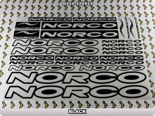 Norco Stickers Decals Bicyclettes Vélos Cycles cadres Fork Mountain Mtb Bmx 55 T