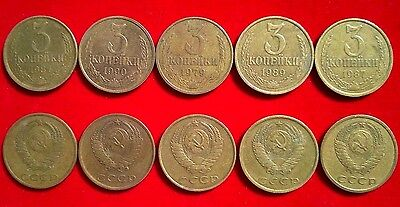 LOT OF 100 USSR SOVIET 15 KOPEKS COINS 1961-1991 CCCP KOPEK BULK