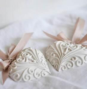 Segnaposto Matrimonio Ebay.Gessetti Profumati Cuore Decorato Segnaposto Matrimonio Bomboniera