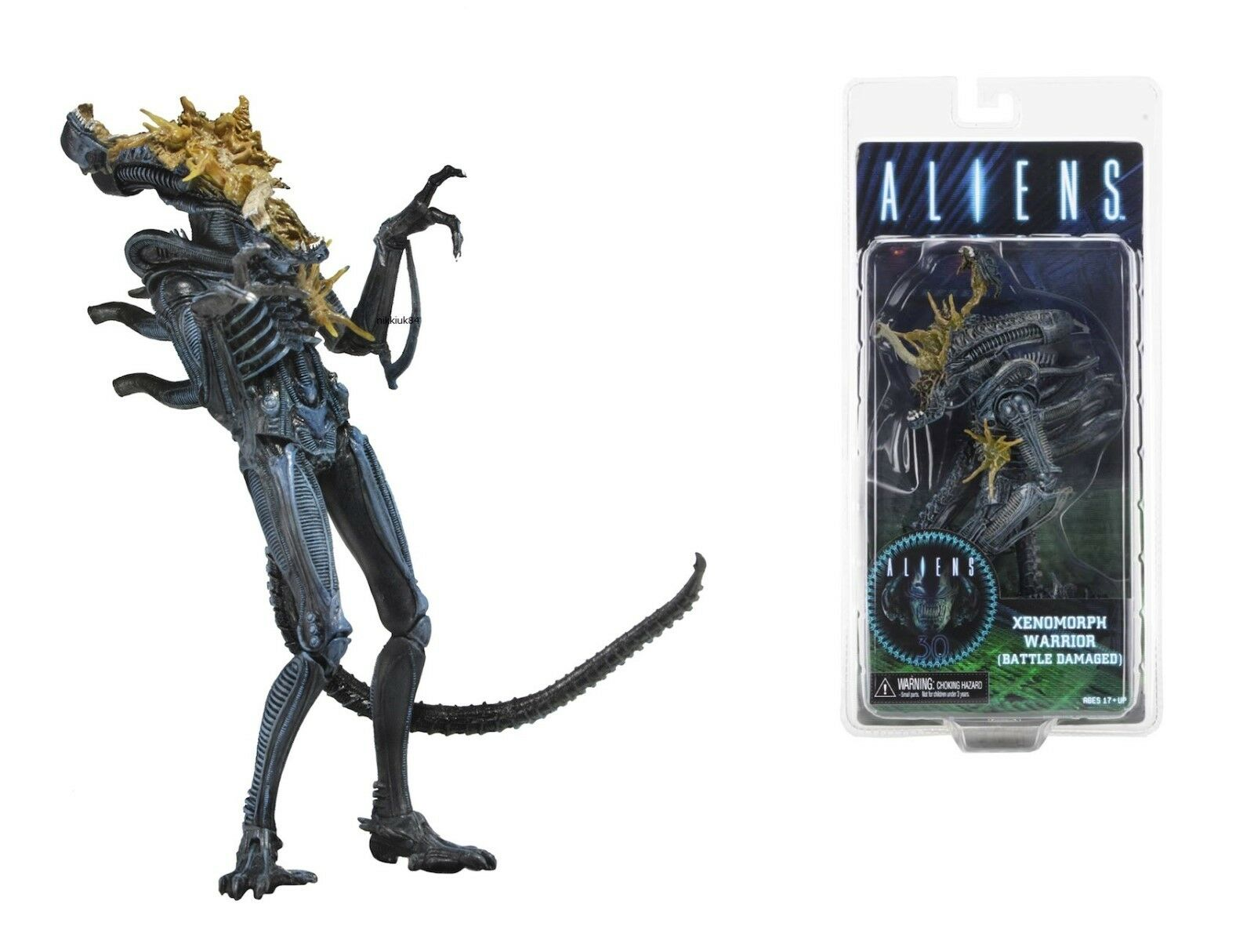 NECA ALIENS SERIES 12 BATTLE DAMAGED blueE WARRIOR WARRIOR WARRIOR ALIEN 9  ACTION FIGURE - 23cm 4aec1b
