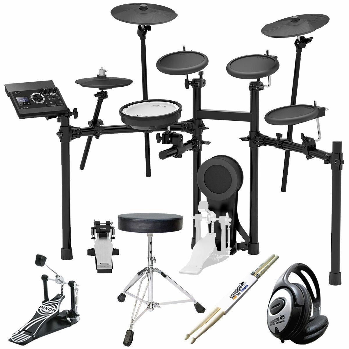 Roland TD-17KL E-Drum Schlagzeug Set + KEEPDRUM Zubehör-Set