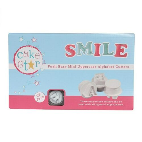 NEW MINI Cake Star Push Easy Cutters SMALL Alphabet Letter /& Numbers FULL SET!!