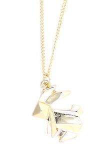 multiple choices Super cute paper folding bunny rabbit necklace
