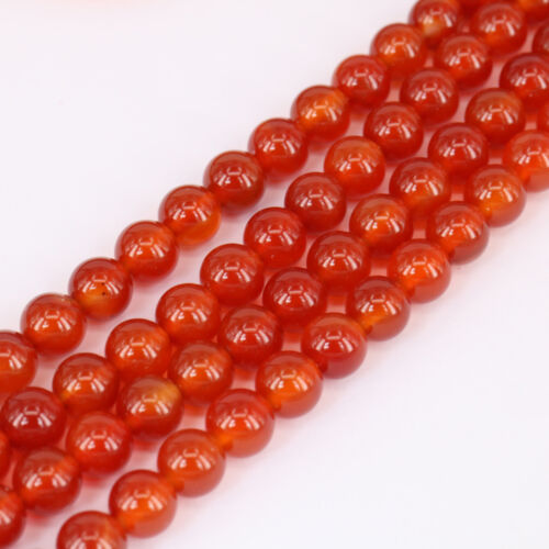 Round Loose Spacer Agate 1 Strand Gemstone Beads For Jewellery Making 4-12mm DIY