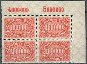 Deutsches-Reich-4er-Block-Mi-Nr-257-mit-PLF-II-III-Michel-528-00-Pracht