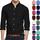 Men's Long Sleeve Button Down Cotton Slim Fit Pointed Collar Dress Stylish Shirt