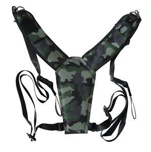 trekking safari classic camo camera harness for dslr