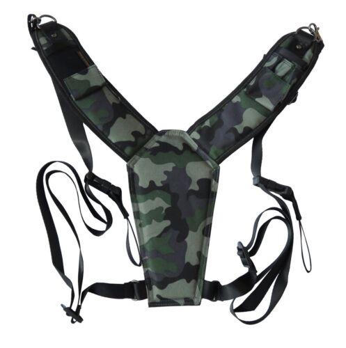 Trekking Safari Classic Camo Camera Harness for DSLR /& Binoculars High Comfort