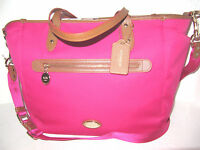 Coach Ruby Pink Sawyer Multifunction Tote Laptop Baby Diaper Bag F37758 NWT $398