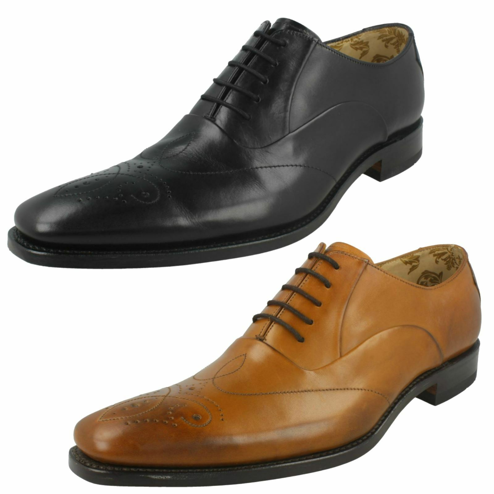 Mens Loake Smart Leather Lace Up schuhe Gunny