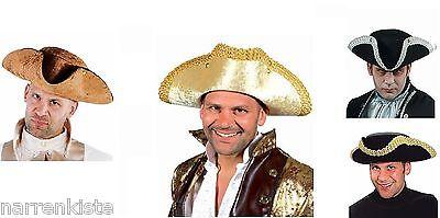 Rokoko Dreispitz Kostüm Hut Gothic Barockhut Steampunk Baron Piraten Piratenhut