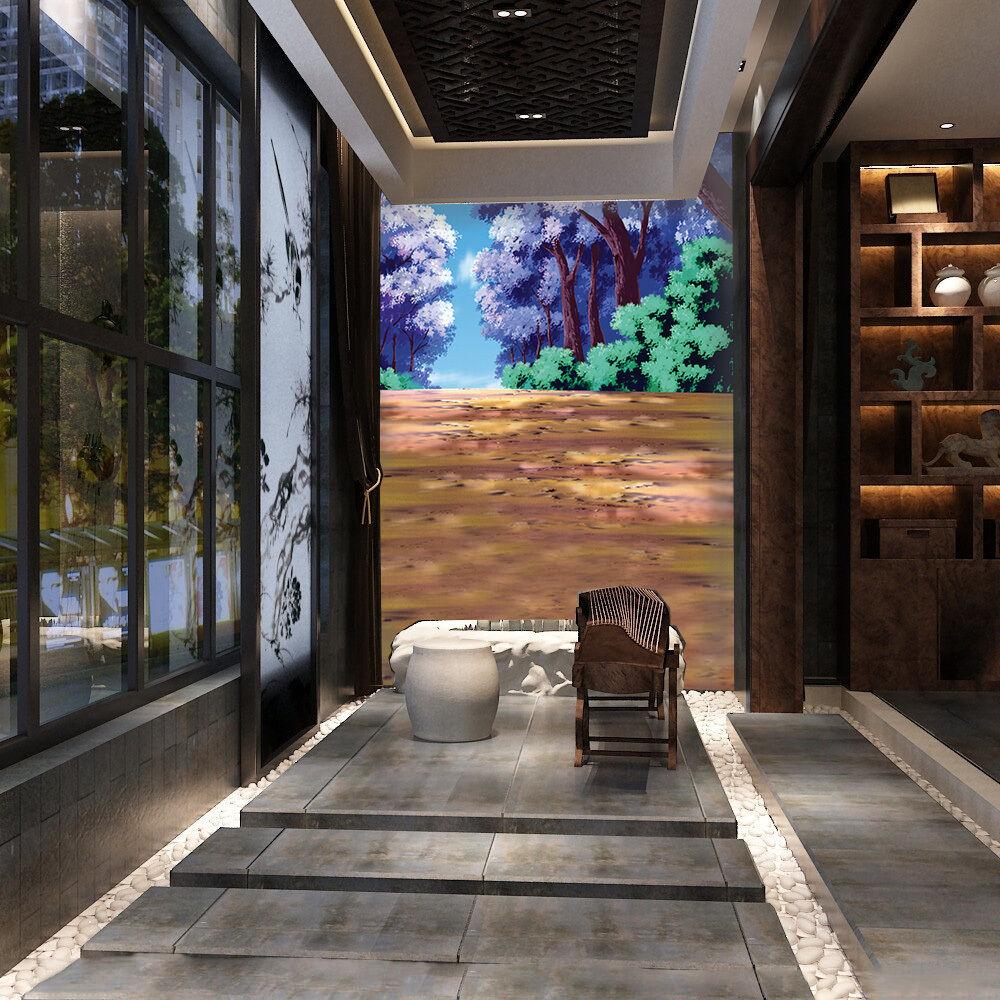 3D lila Trees 2074 Wall Paper Wall Print Decal Wall Deco Wall Indoor Murals