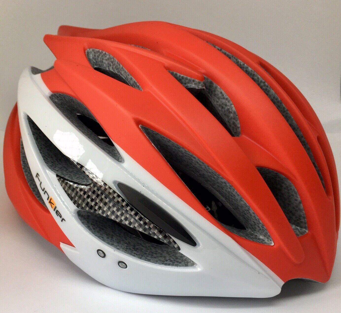 Funkier Alioth MTB XC Elite casco de bicicleta de montaña   blancoo Rojo   Grande 58-61cm   Nuevo