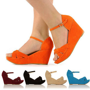 NEW-CASUAL-PLATFORM-WEDGES-HIGH-HEEL-ANKLE-STRAP-SANDALS-SIZE-3-8