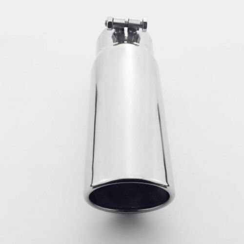 """Bolt-on Slant 3.5/"""" 3-1//2/"""" Out 3/"""" Inlet 304 Stainless Steel Exhaust Tip 12/"""" Long"""