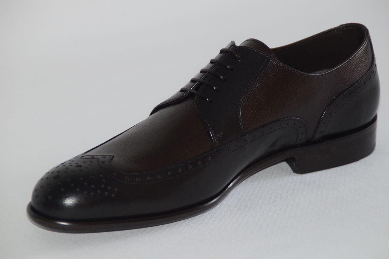 HUGO BOSS Business Chaussures, mod. Femmenio, taille UE 43//US Brown 10, Dark Brown 43//US 137e5b