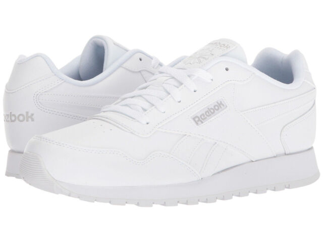 REEBOK Men Shoes Classic Harman Run Synthetic Leather Suede Black White