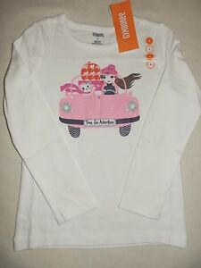 Gymboree-FAIRY-TALE-FOREST-White-Time-for-Adventure-Pink-Car-Tee-NWT-4-5-6-7-8