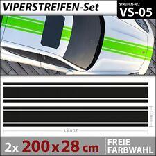 Viperstreifen Autoaufkleber Rallystreifen Racing Stripes Aufkleber . VS-05
