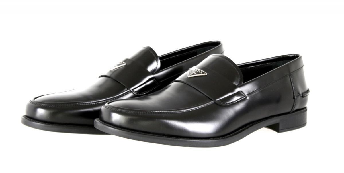 Scarpe casual da uomo  AUTHENTIC PRADA LUSSO Pantofole Con Mocassino Scarpe 2dc085 Nero 10 44 44,5