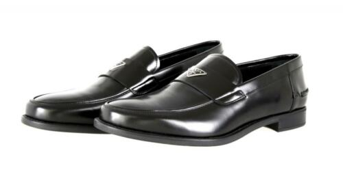 AUTHENTIC LUXURY PRADA SLIPPER LOAFER SHOES 2DC085 BLACK 10 44 44,5