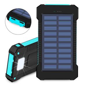 10000 mAh Waterproof USB Portable Solar Battery Pack Charger Power Bank 10000mah