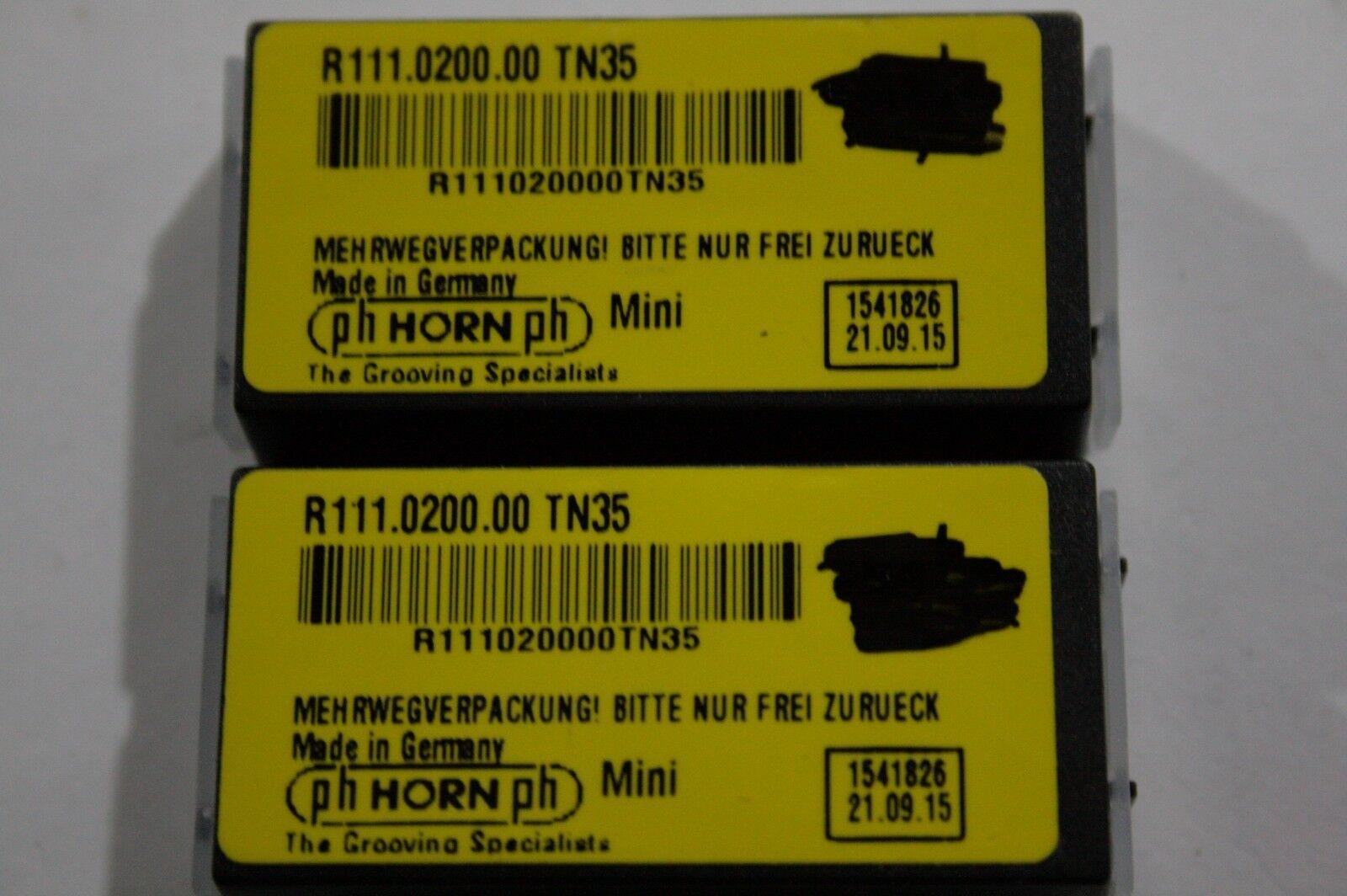 2 Stück Wendeplatten Wendeschneidplatten Mini Horn R116.0200.00 TN35