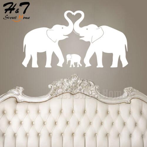 Elephant Family Love Amovible Vinyle Mur Autocollant Sticker Nursery Kids chambre de bébé